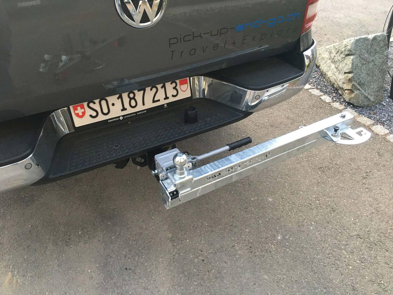 Schwenkträger für Anhängerkupplung |pick-up-and-go.ch