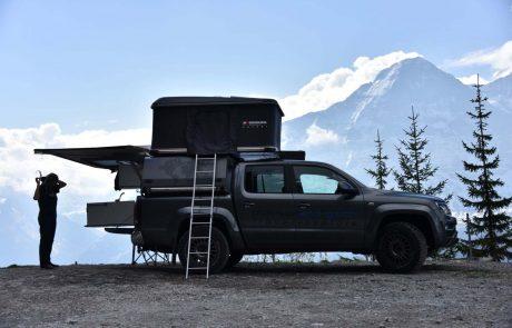 Reisen mit dem Cabtop von pick-up-and-go